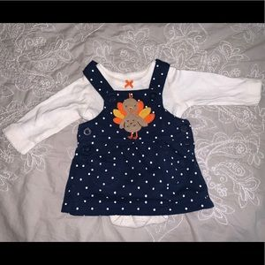 Carters Turkey NB Dress